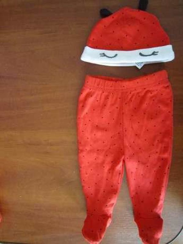 Набор: ползунки и шапочка для новорожденных фирмы bluezoo фото №1