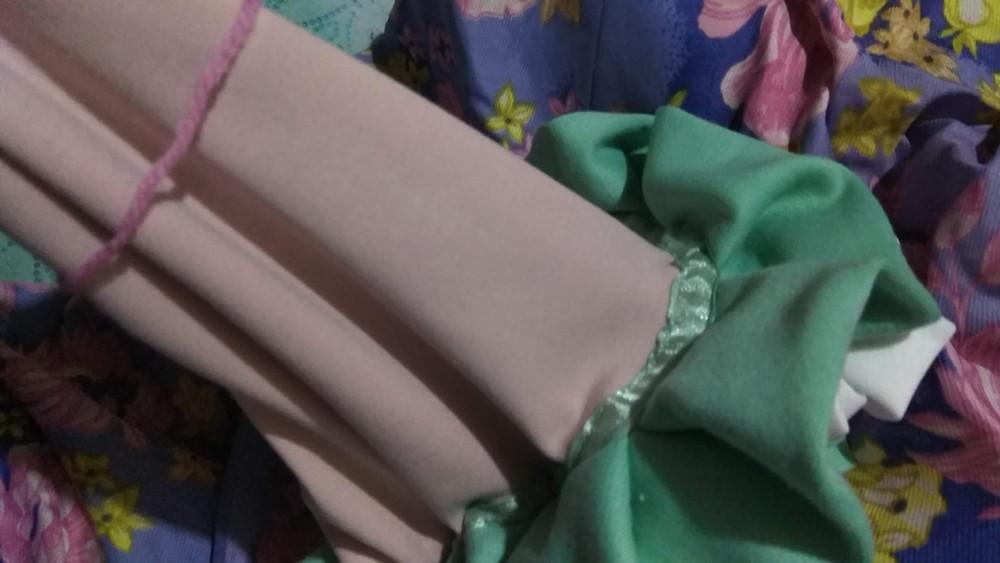 Букет роз из ткани декоративный. фото №4