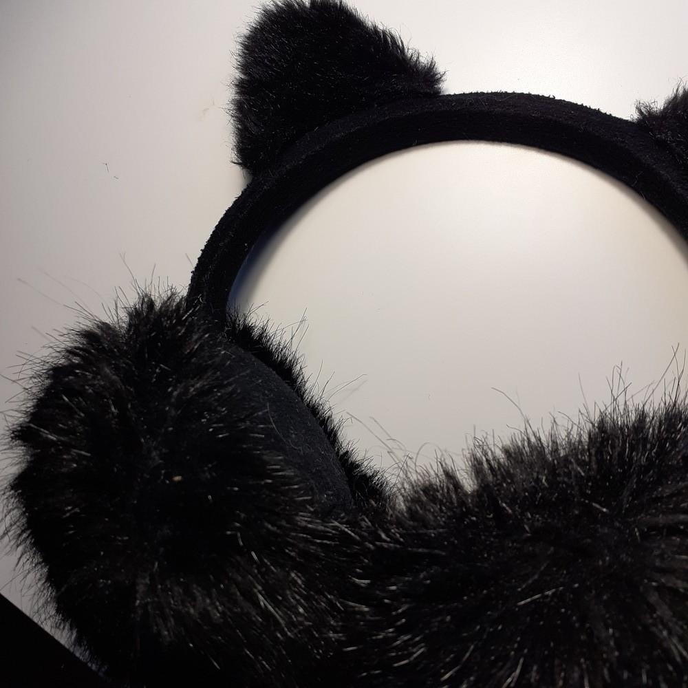 Хутряні навушники h&m фото №5