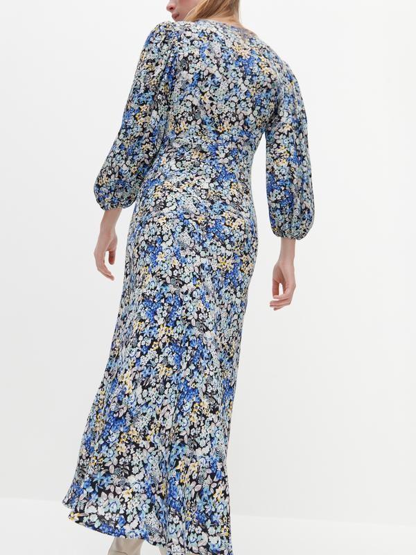Reserved шикарное цветочное вискозное платье фото №3