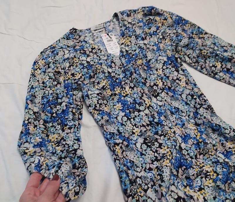 Reserved шикарное цветочное вискозное платье фото №8