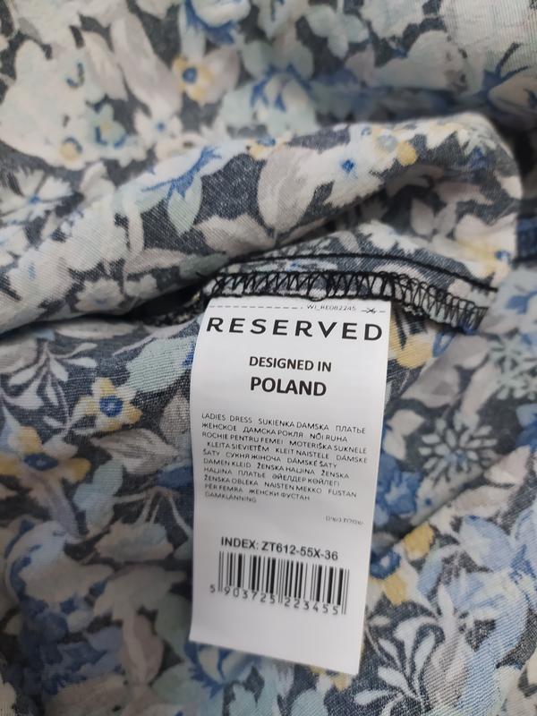 Reserved шикарное цветочное вискозное платье фото №9