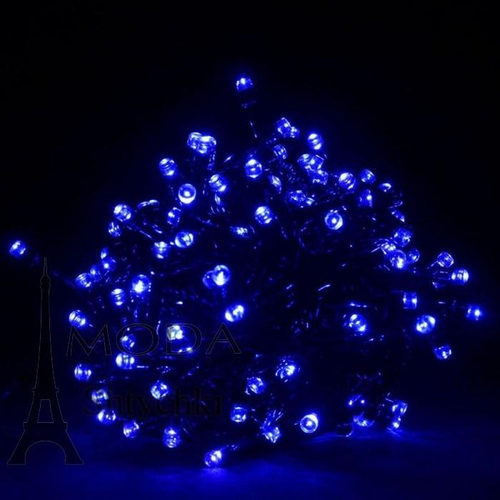Гирлянда электрическая led 100, белая/неон/цветная, на 100 лампочек фото №2